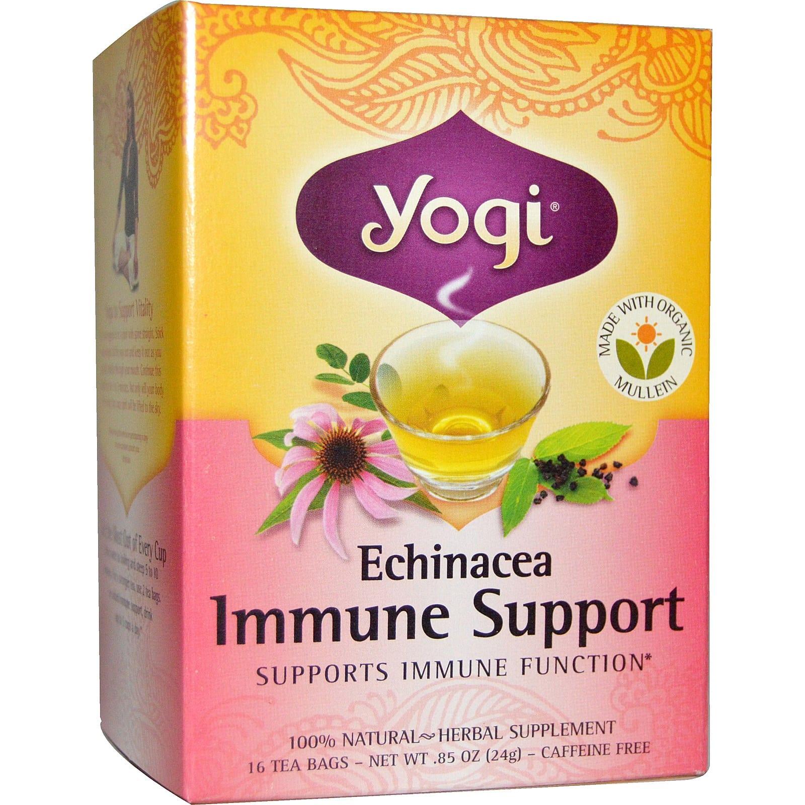 Feel Better with YOGI Enchinacea Tea.